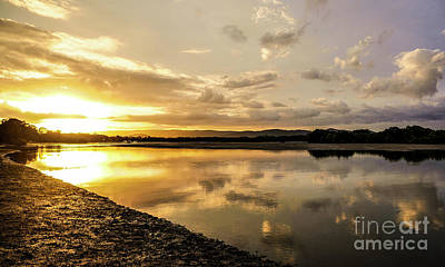 Photograph - Sunset Over River, Coombabah 2 by Lexa Harpell