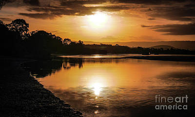 Photograph - Sunset Over River, Coombabah by Lexa Harpell