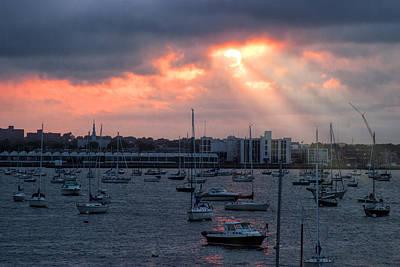 Photograph - Sunset Over Salem by Jeff Folger