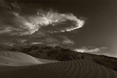 Sunset Over Sand Dunes Death Valley Original
