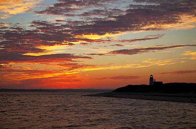 Photograph - Sunset Over Sandy Neck Lighthouse by Charles Harden