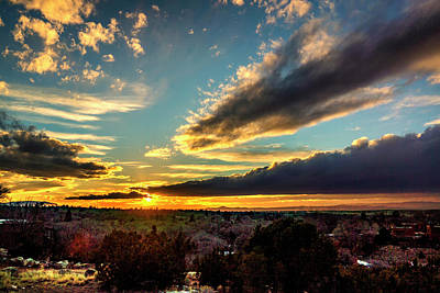Photograph - Sunset Over Santa Fe Dsc09682 by Greg Kluempers