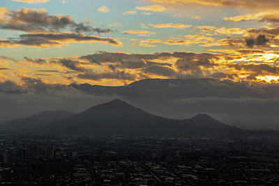 Photograph - Sunset Over Santiago by Steven Richman