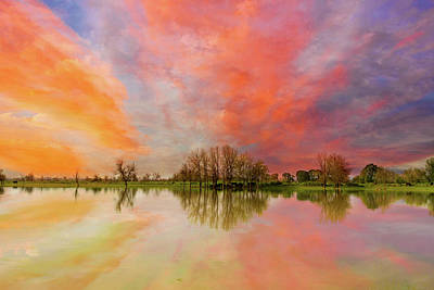 Photograph - Sunset Over Sauvie Island by David Gn