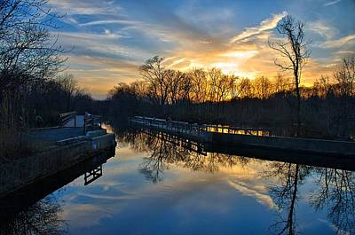 Princeton Photograph - Sunset Over Scudders Mill Aqueduct by Steven Richman