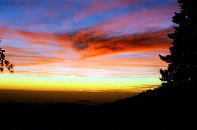 Sunset Over Sequoia Art Print