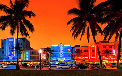 Photograph - Sunset Over South Beach Miami, Florida by Justin Kelefas