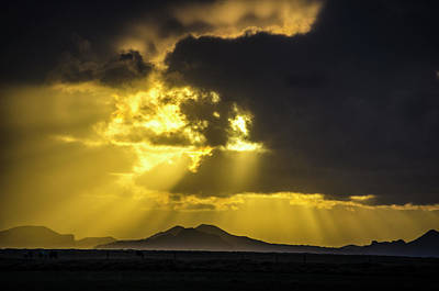 Photograph - Sunset Over Southern Iceland by Deborah Smolinske