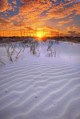 Photograph - Sunset Over St Augustine Beach Dunes by Justin Kelefas