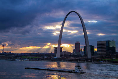 Photograph - Sunset Over St Louis by Garry McMichael