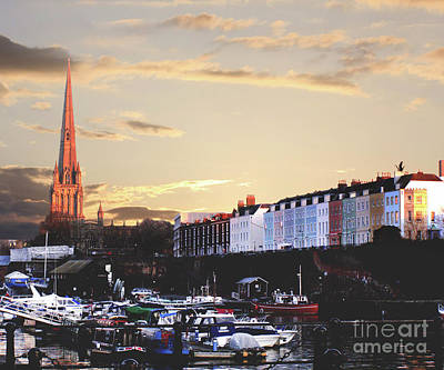 Art Print featuring the photograph Sunset Over St Mary Redcliffe Bristol by Terri Waters