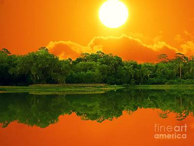 Photograph - Sunset Over Still Water by Paul Wilford