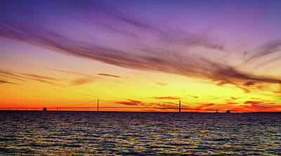 Photograph - Sunset Over Straits Of Mackinac by Alexey Stiop