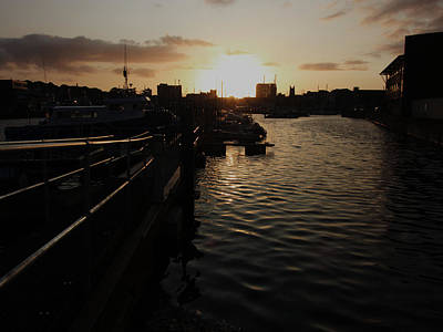 Photograph - Sunset Over Sutton Harbour Plymouth by Chris Day