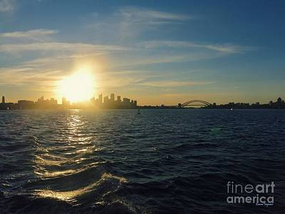 Photograph - Sunset Over Sydney Harbour by Leanne Seymour