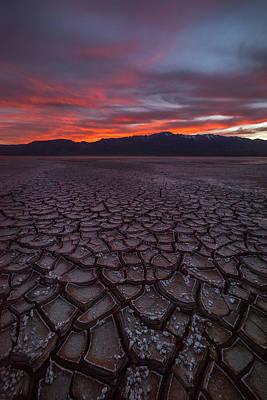 Alvord Desert Wall Art - Photograph - Sunset Over The Alvord Desert by Gary Randall