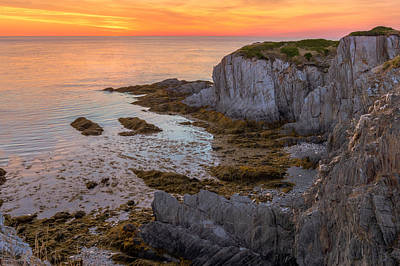 Waterscape Photograph - Sunset Over The Atlantic by Garvin Hunter