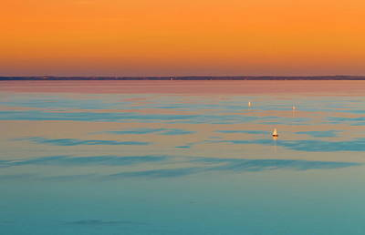 Photograph - Sunset Over The Baladon Lake, Hungary by Elenarts - Elena Duvernay photo