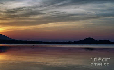 Photograph - Sunset Over The Bay by Michelle Meenawong