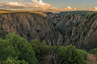 Clouds Over Canyon Photograph - Sunset Over The Black Canyon by Loree Johnson