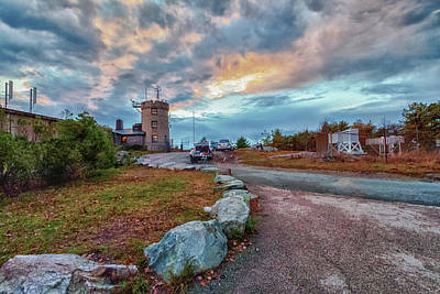 Photograph - Sunset Over The Blue Hill Weather Observatory by Brian MacLean