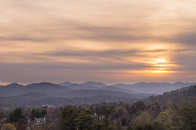 Photograph - Sunset Over The Blue Ridge In Asheville, Nc by MM Anderson