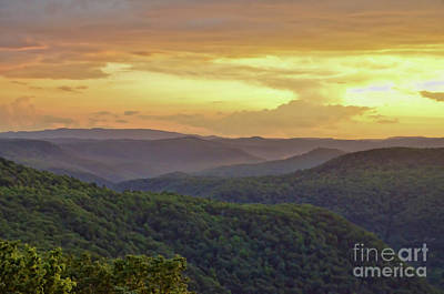 Photograph - Sunset Over The Bluestone Gorge - Pipestem State Park by Kerri Farley