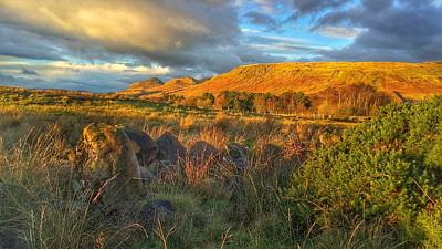 Sunset Over The Campsie Fells Art Print by RKAB Works
