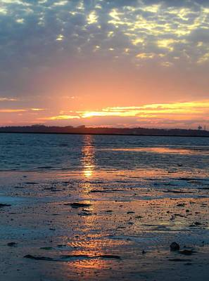 Photograph - Sunset Over The Cape Fear River by Mary Hahn Ward