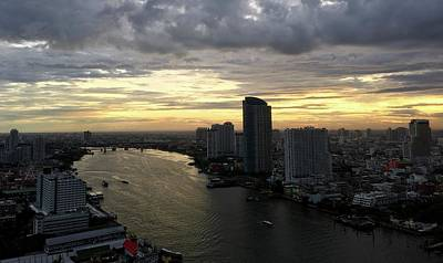 Photograph - Sunset Over The Chao Praya River, Bangkok by Richard Bryce and Family