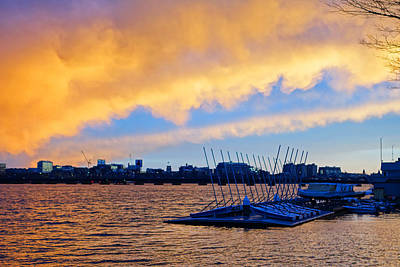 Photograph - Sunset Over The Charles River Boston Ma by Toby McGuire