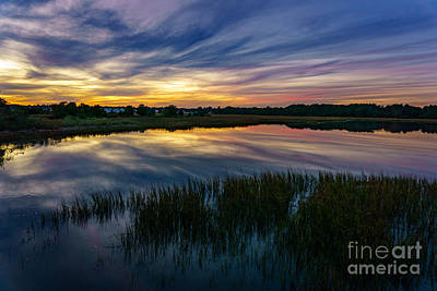 Photograph - Sunset Over The Cherry Grove Marsh by David Smith