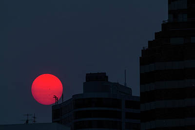 Sun Photograph - Sunset Over The City Of Portland Oregon by David Gn