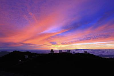 Keck Photograph - Sunset Over The Clouds by Maurice Hood