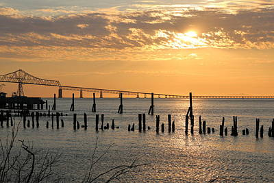Photograph - Sunset Over The Columbia River - 2 by Christy Pooschke