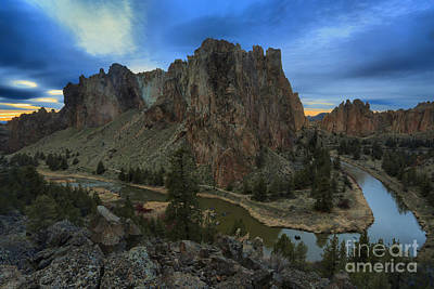 Photograph - Sunset Over The Crooked River by Adam Jewell