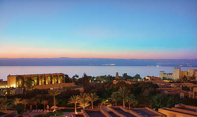 Madaba Photograph - Sunset Over The Dead Sea by Kirill Pozdnyakov