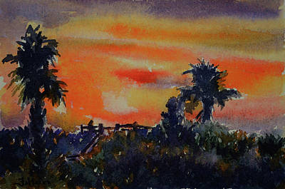 Painting - Sunset Over The Dunes 7-10-17 by Julianne Felton