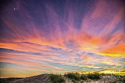 Photograph - Sunset Over The Dunes by Vivian Krug Cotton