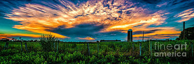 Photograph - Sunset Over The Farm by Nick Zelinsky