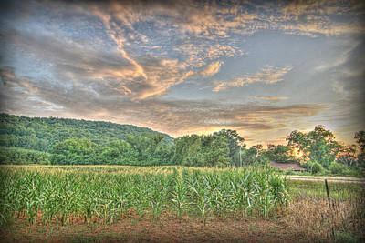 Photograph - Sunset Over The Fields by Patricia Montgomery
