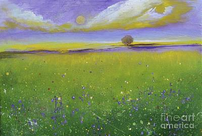 Painting - Sunset Over The Garden by Alicia Maury