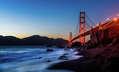 Photograph - Sunset Over The Golden Gate Bridge by Julien ORRE
