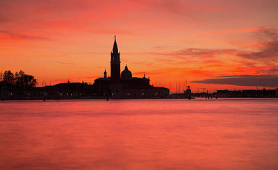 Historic Architecture Photograph - Sunset Over The Grand Canal, Venice, by Maggie McCall