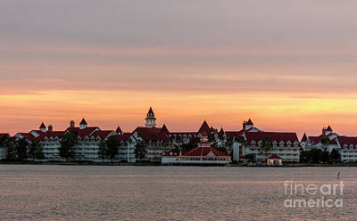 Photograph - Sunset Over The Grand Floridian by Luis Garcia