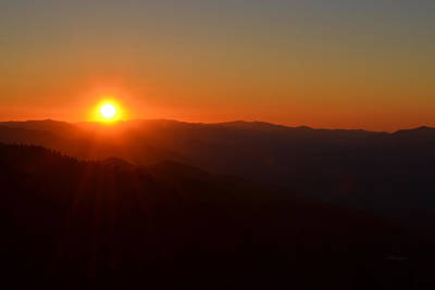 Photograph - Sunset Over The Great Smoky Mountains by rd Erickson
