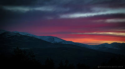 Photograph - Sunset Over The Gredos Spain by Henri Irizarri