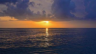 Photograph - Sunset Over The Gulf Of Mexico by Carol Bradley