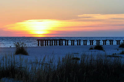 Photograph - Sunset Over The Gulf Of Mexico by Steven Scott