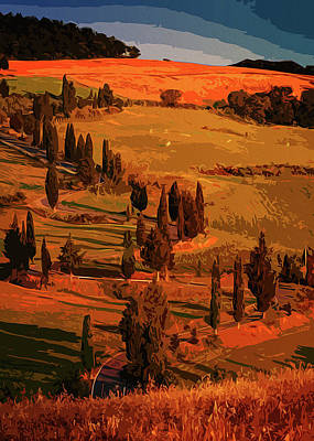 Painting - Sunset Over The Hills Of Tuscany by Andrea Mazzocchetti